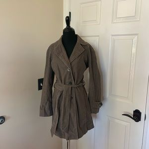 J Jill Brown Trench Coat Size Small